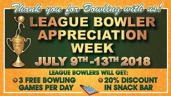 League Bowler Appreciation Week promo